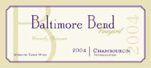 Baltimore Bend Vineyard-Chambourcin