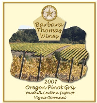 Barbara Thomas Wines-Pinot Gris