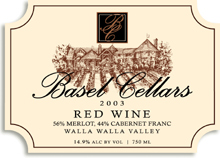Basel Cellars Estate Winery Red Wine