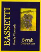 Bassetti Vineyards-Syrah