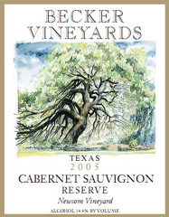 Becker Vineyards-Cabernet Sauvignon