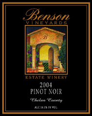 Benson Vineyards Estate Winery Pinot Noir