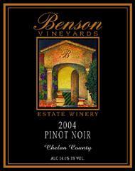 Benson Vineyards Estate Winery Pinot Noir
