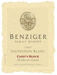 Benziger Family Winery-Sauvignon blanc