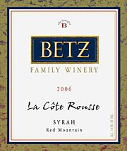 Betz Family Winery - Syrah La Côte Rousse