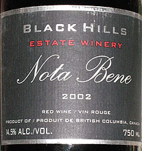 Black Hills Estate Winery - Okanagan Valley Nota Bene