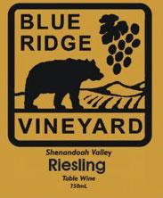 Blue Ridge Vineyard-Riesling