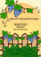 Bright Meadows Farm Vineyard and Winery-Burley Red