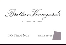 Brittan Vineyards-Pinot Noir