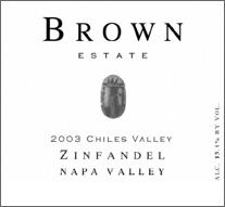 Brown  Estate Winery - Chiles Valley, Napa Zinfandel