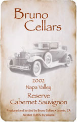 Bruno Cellars-Reserve Cab