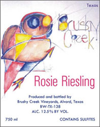 Brushy Creek Texas Riesling