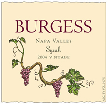 Burgess Cellars Syrah
