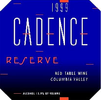 Cadence Winery Columbia Valley Red Table Wine Label