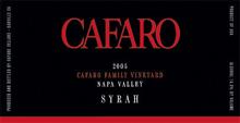 Cafaro Cellars - Syrah