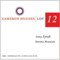 Cameron Hughes Wine - Sonoma Mountain Syrah