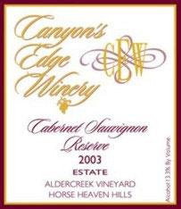 Canyon&#39s Edge Winery-Cabernet Sauvignon