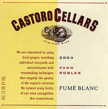 Castoro Cellars-Fume Blanc