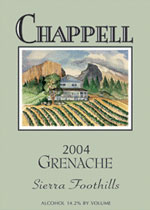 Chappell Winery and Vineyard-Grenache