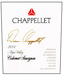 Chappellet Winery - Napa Valley Cabernet Sauvignon