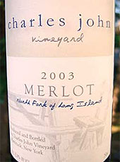 Charles John Vineyards - North Fork or Long Island Merlot