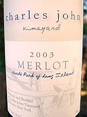 Charles John Vineyards - North Fork or Long Island Merlot