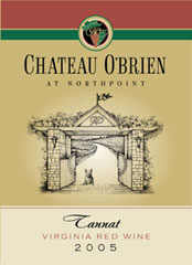 Chateau O'Brien at Northpoint Winery and Vineyard