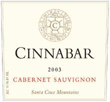 Cinnabar Vineyard and Winery Cabernet Sauvignon