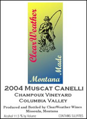 ClearWeather Wines-Muscat Canelli