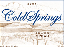 Cold Springs Winery-Syrah