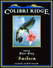 Colibri Ridge Winery and Vineyard-Barbera