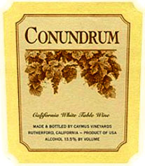 Conundrum Wines Label California White Wine