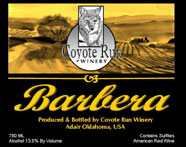 Blue Coyote Winery-Barbera