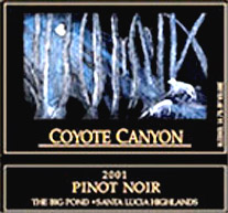 Coyote Canyon Winery - Santa Lucia Highlands Pinot Noir