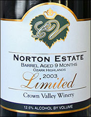 Crown Valley Winery - Norton