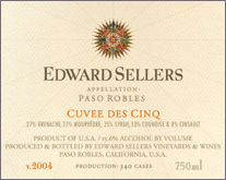 Edward Sellers Vineyards - Paso Robles