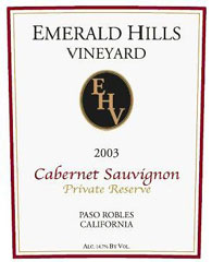 Emerald Hills Vineyard- Cab Sauvignon