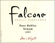 Falcone Family Vineyards Paso Robles Syrah