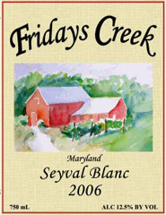 Fridays Creek Winery-Seyval Blanc