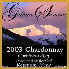 Galena Summit Winery-Chardonnay