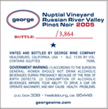 George Wine Company-Pinot Noir