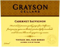 Grayson Cellars Wine Paso Robles Cabernet Sauvignon