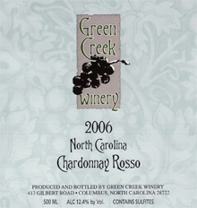 Green Creek Winery Chardonnay Rosso