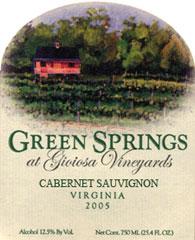 Green Springs Winery-Cabernet Sauvignon