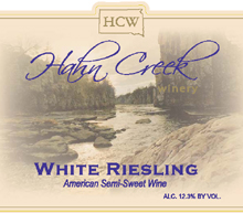 Hahn Creek Winery-Riesling