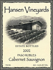 Hansen Vineyards -Cabernet Sauvignon