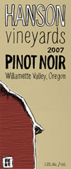 Hanson Vineyards-Pinot Noir