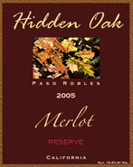 Hidden Oak Winery-Merlot