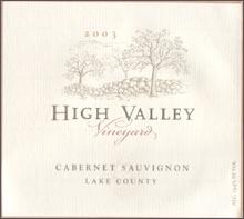 High Valley Vineyard-Cabernet