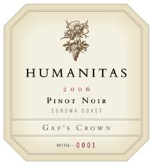 Humanitas Wines - Pinot Noir